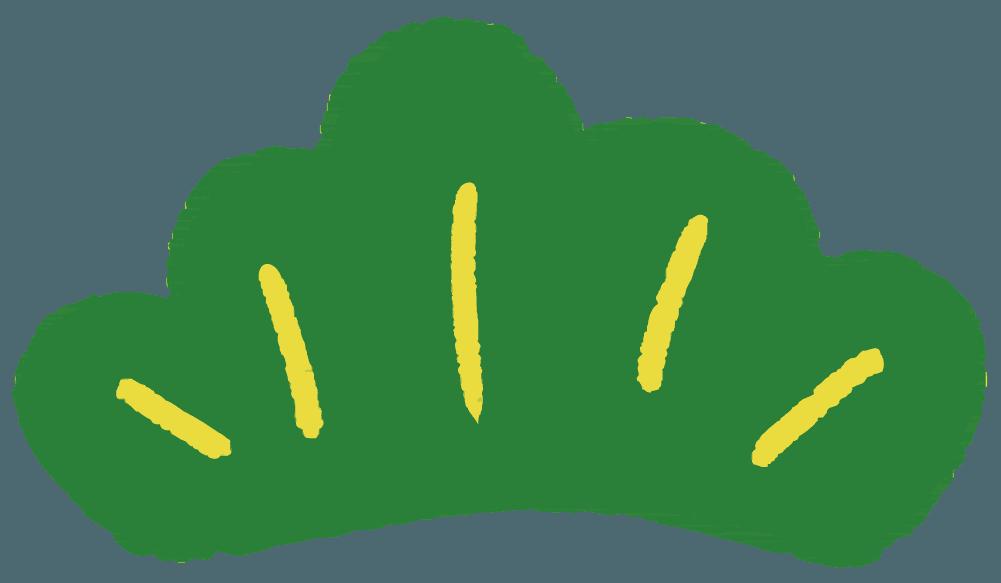 可愛い松の葉のイラスト