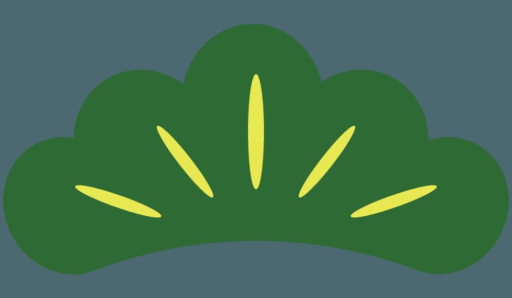 縁起物の松の葉のイラスト
