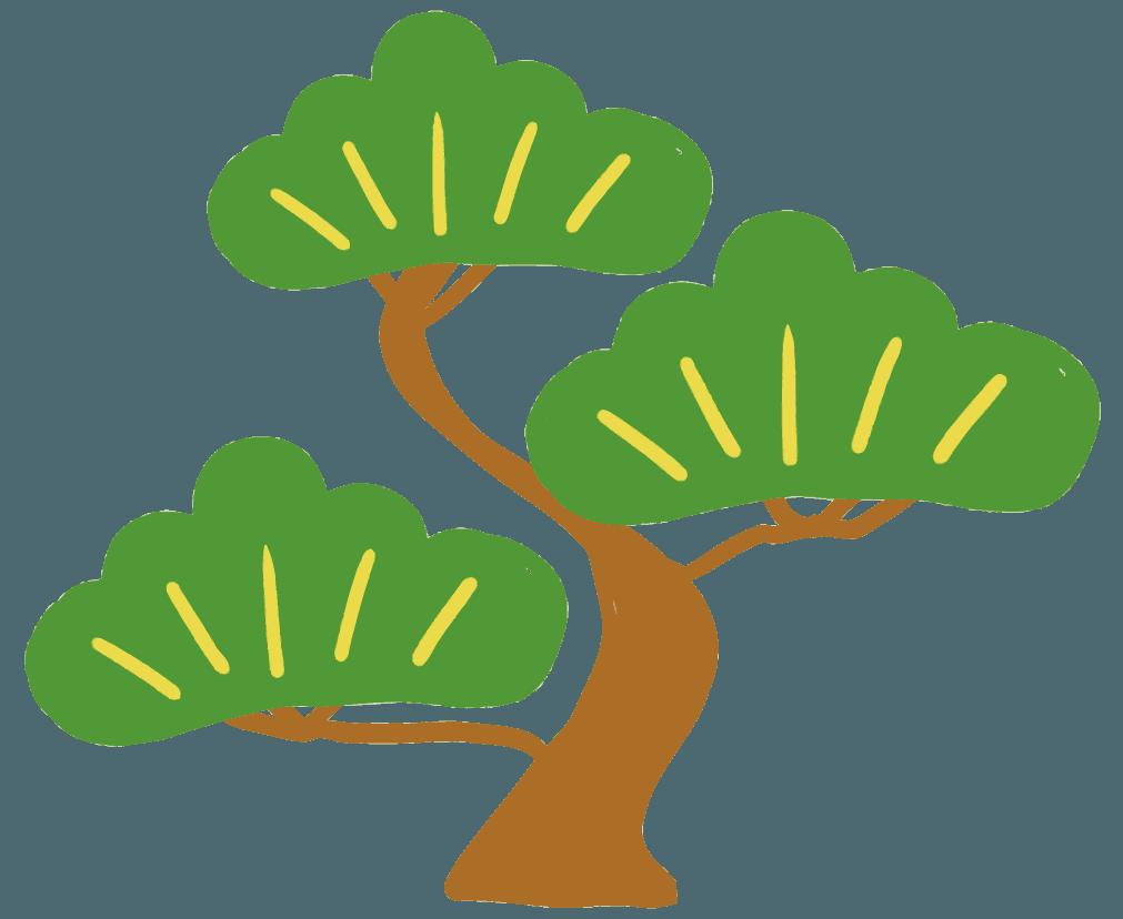 可愛い松の木のイラスト