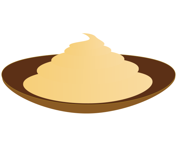皿に出したマヨネーズのイラスト