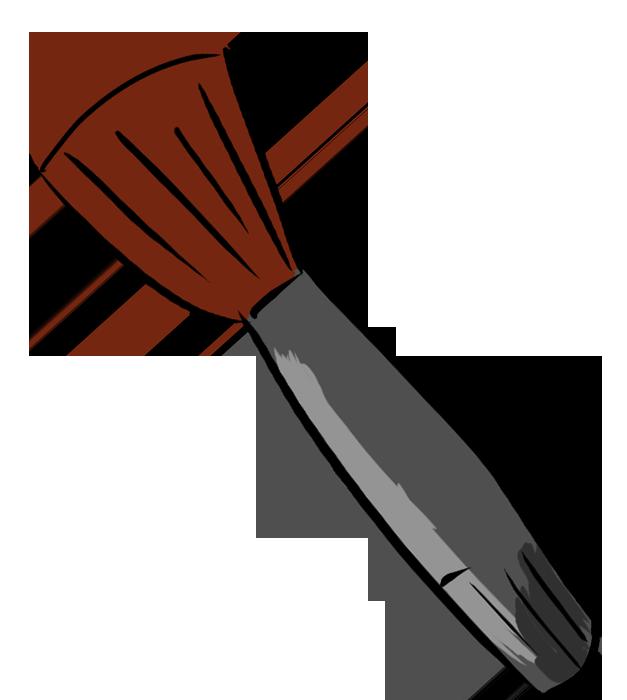 パウダーブラシのイラスト