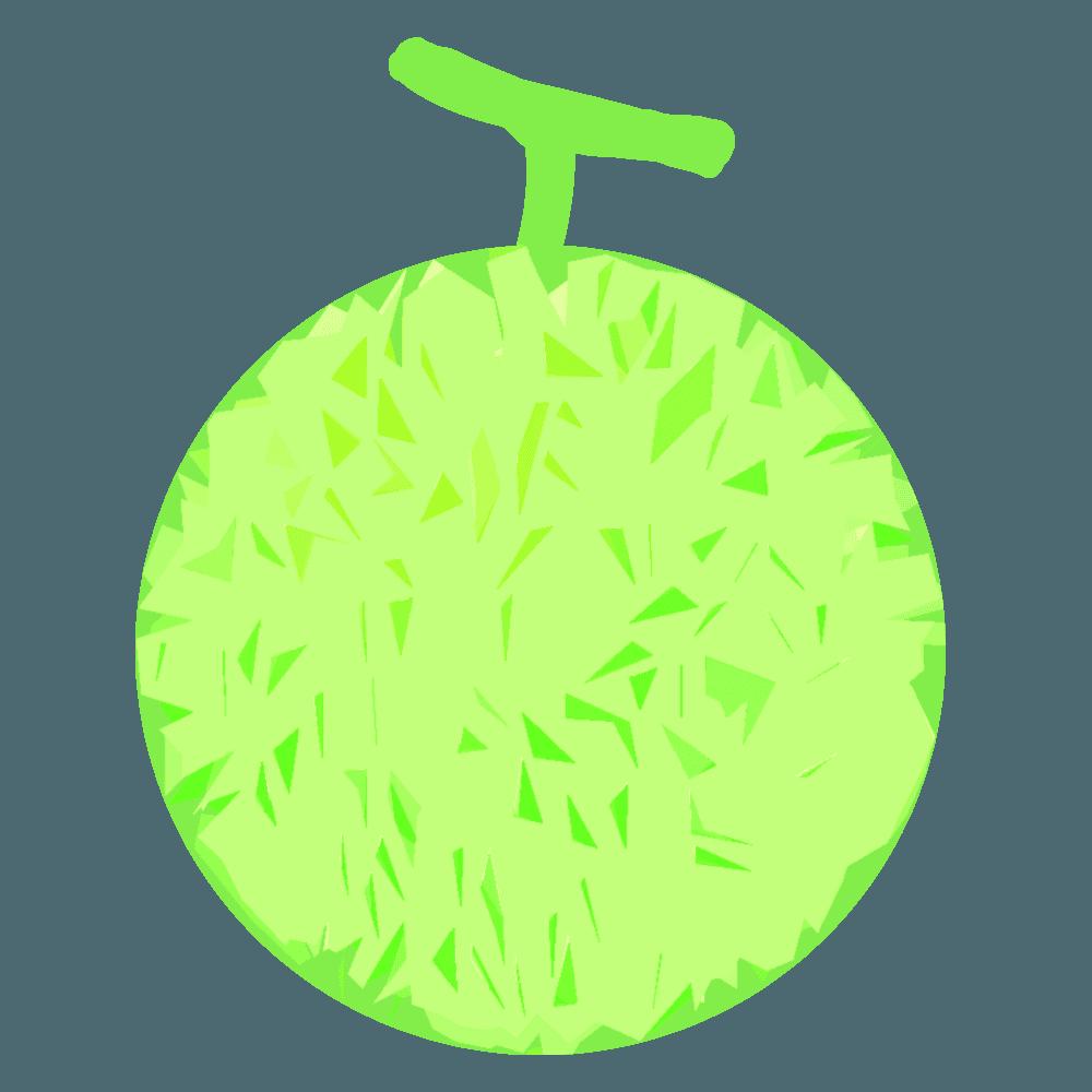 メロンの盛り合わせのイラスト