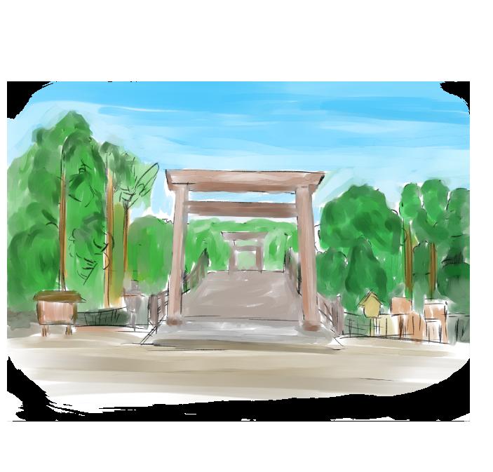 伊勢神宮のイラスト