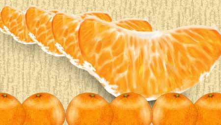 みかんイラスト - かわいい果物フリー素材リアルな実も