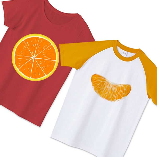 みかんTシャツ - 絶対記憶に残るおもしろデザインTシャツ