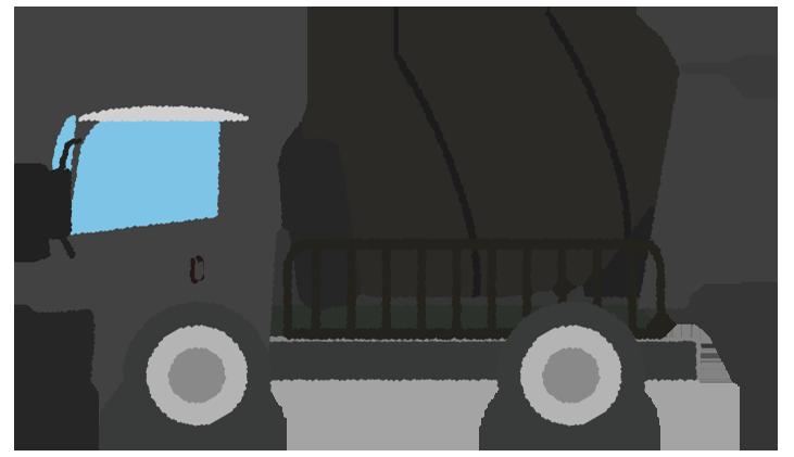 黒いミキサー車のイラスト