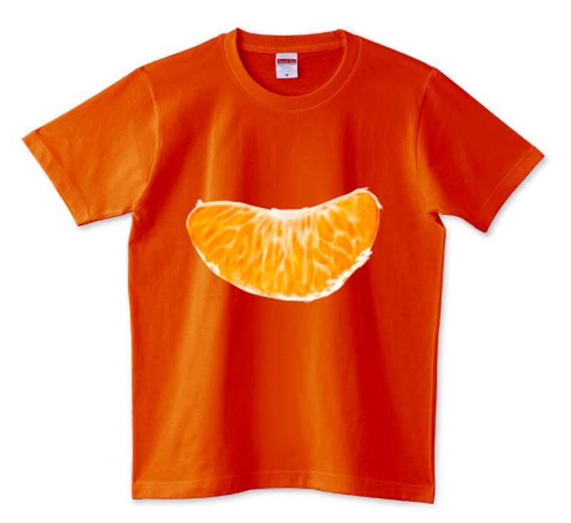 皮むきみかんTシャツ