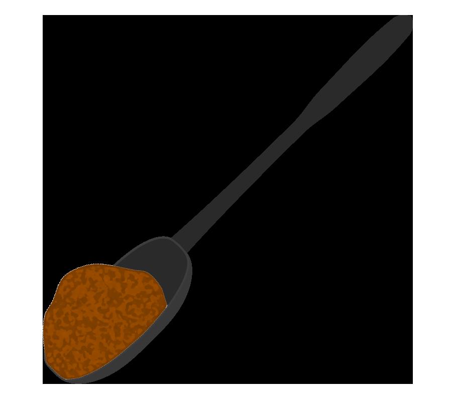 スプーンにとった赤味噌のイラスト