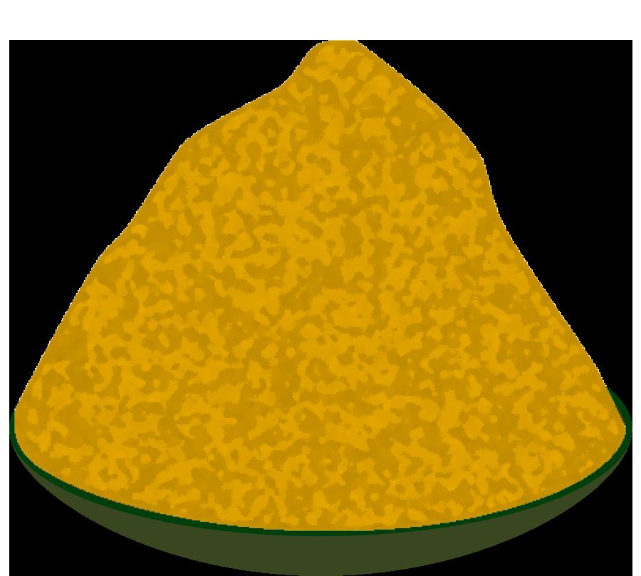 皿に盛った白味噌のイラスト