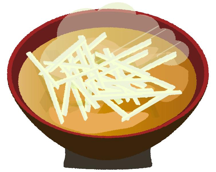 大根の味噌汁のイラスト