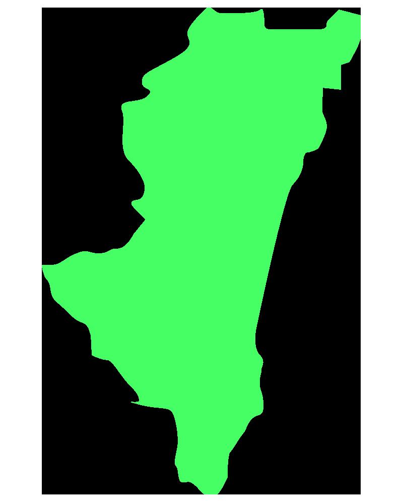 宮崎の地図イラスト