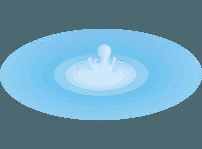 水に落ちる水滴のイラスト