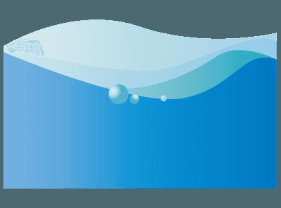 水の流れと泡のイラスト