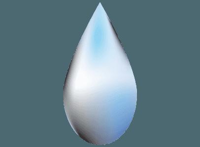 透明な水滴のイラスト