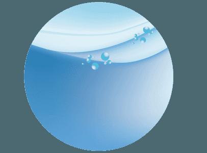 水と水面のイメージのイラスト