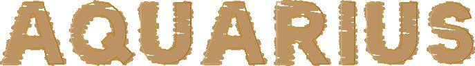 AQUARIUSの文字