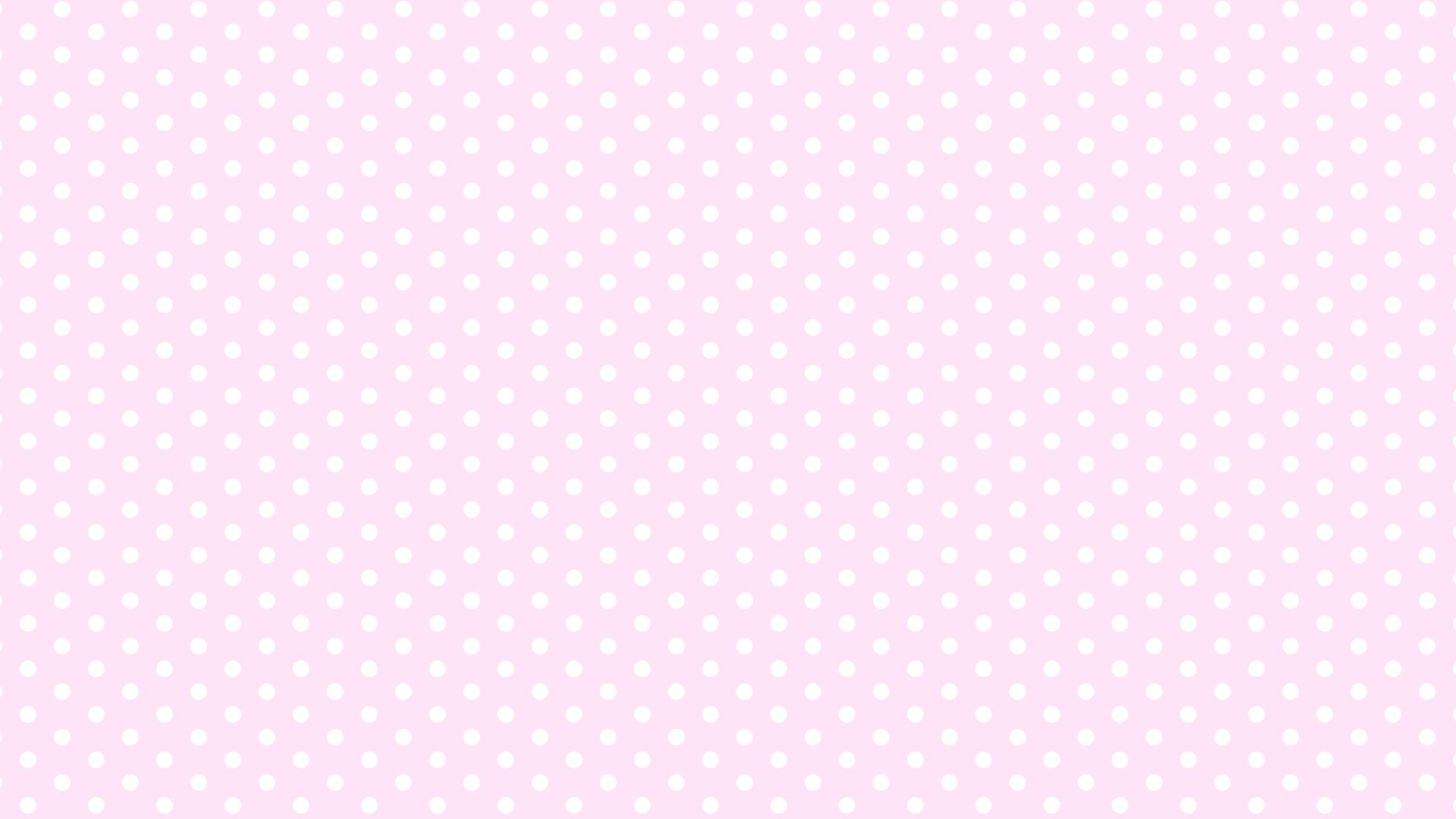 ピンク水玉(中)背景イラスト