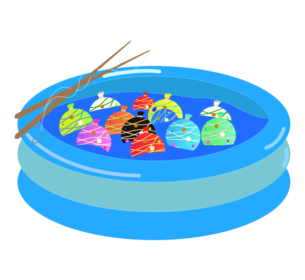 ヨーヨー釣りのイラスト