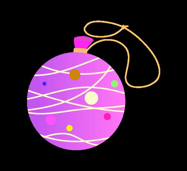 紫ヨーヨーのイラスト