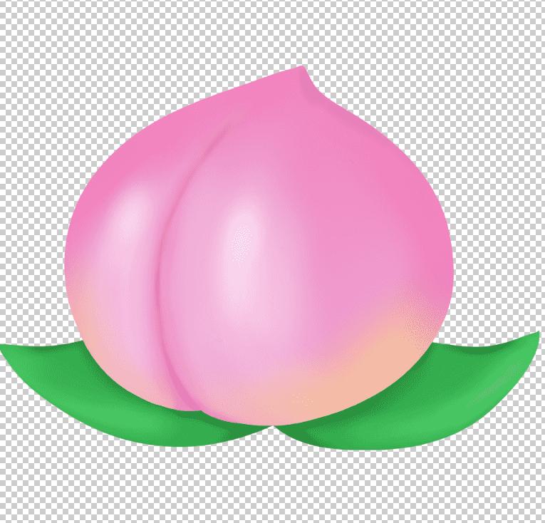 photoshopで桃の無料イラスト素材を開く
