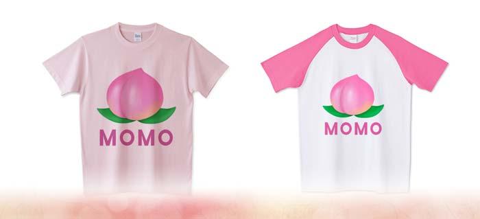 桃のラグランTシャツと5.6ozTシャツ
