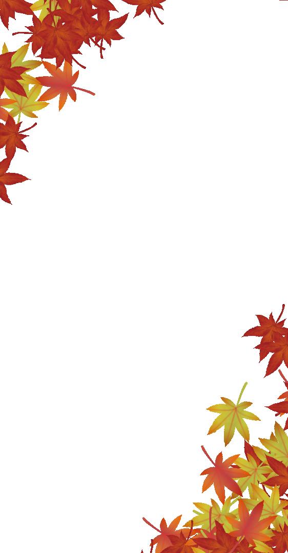 スマホ用紅葉のフレーム