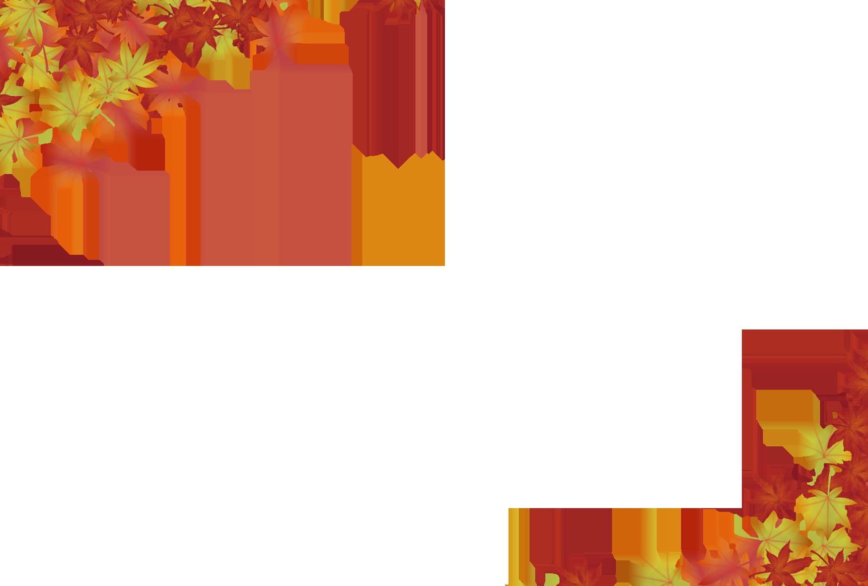 ハガキ用の紅葉のフレーム