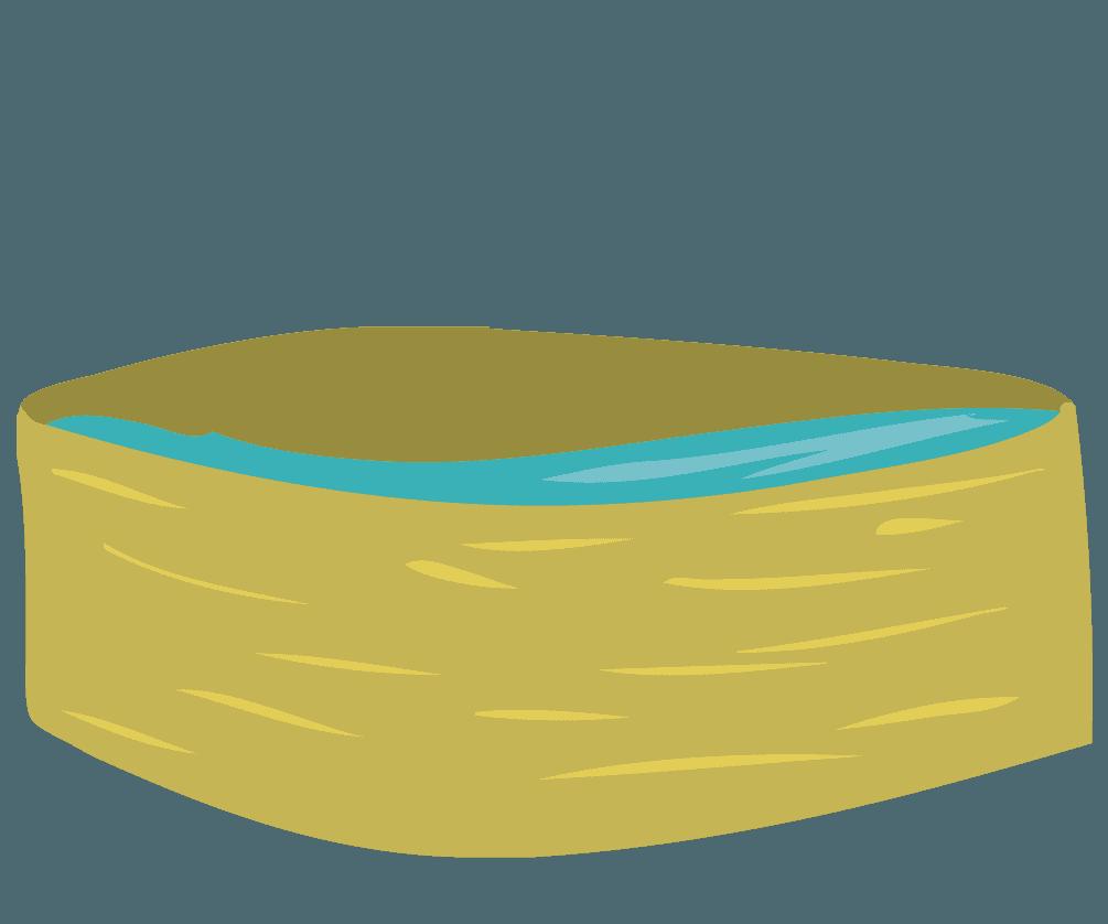 餅つきに使う水のイラスト