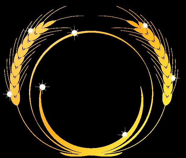 輝く麦のイラスト