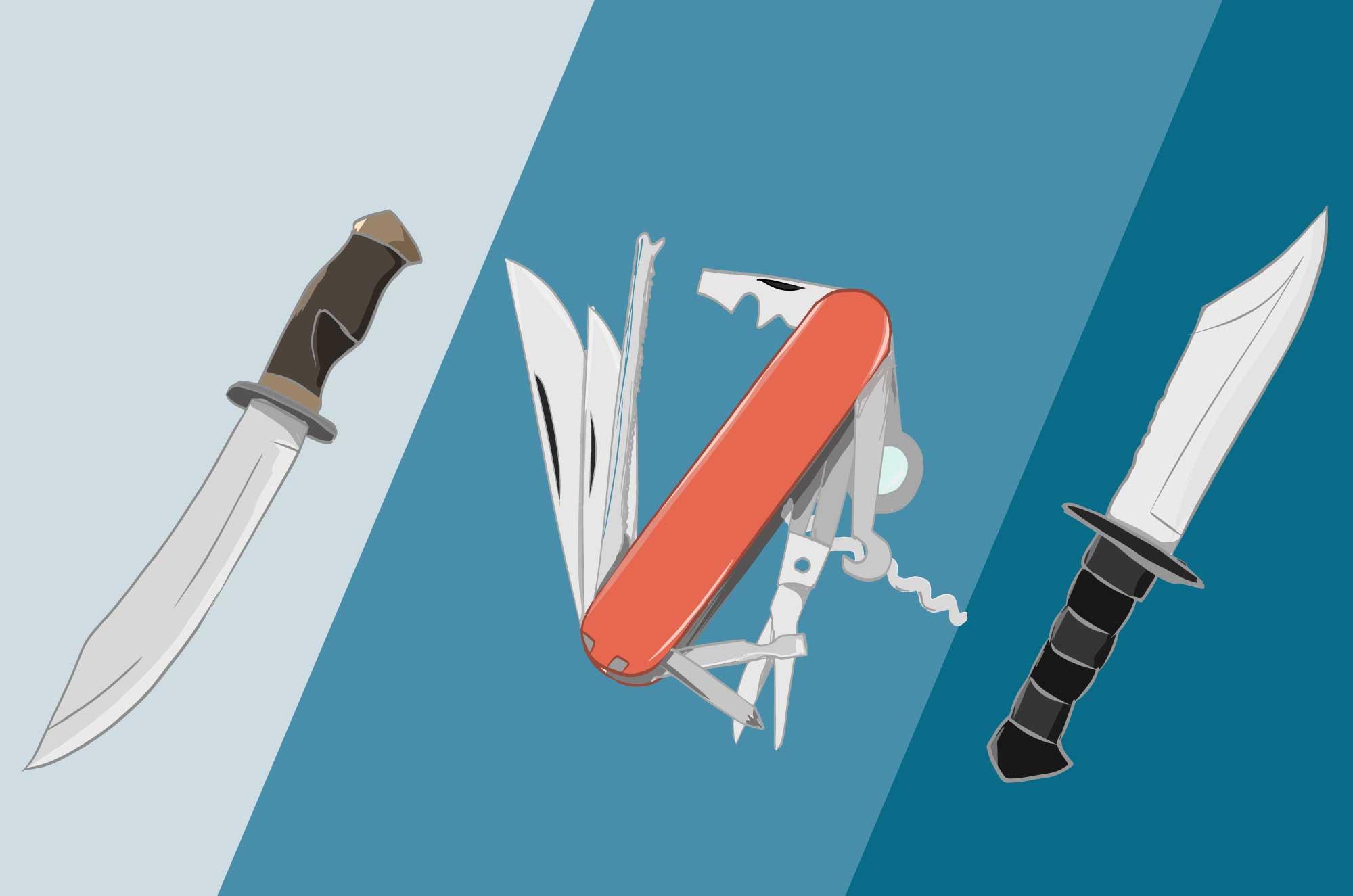 ナイフの無料イラスト - サバイバル・キャンプの道具