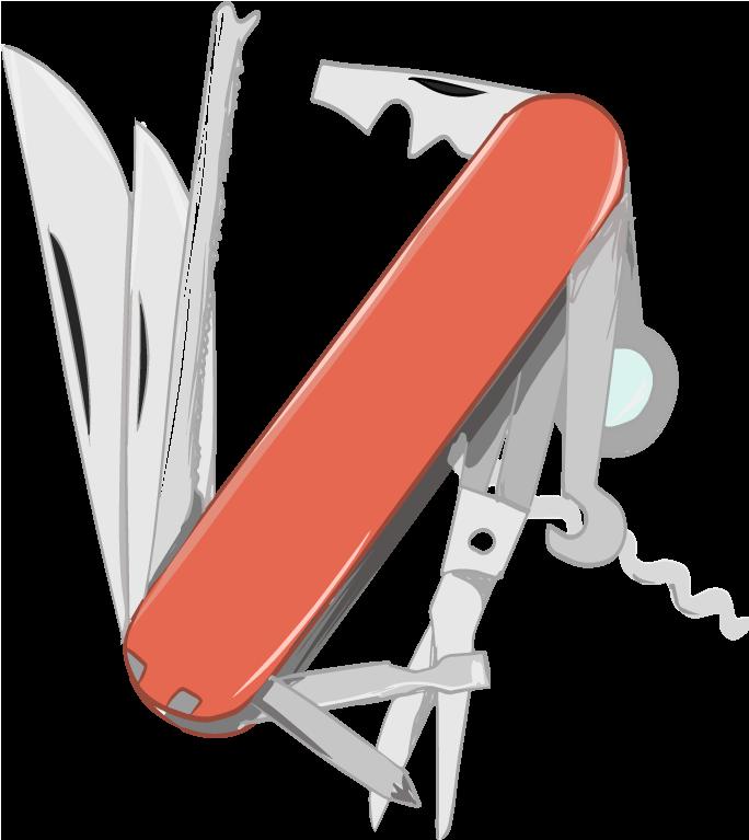 便利な十得ナイフのイラスト
