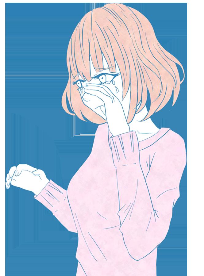 泣く女の子のイラスト