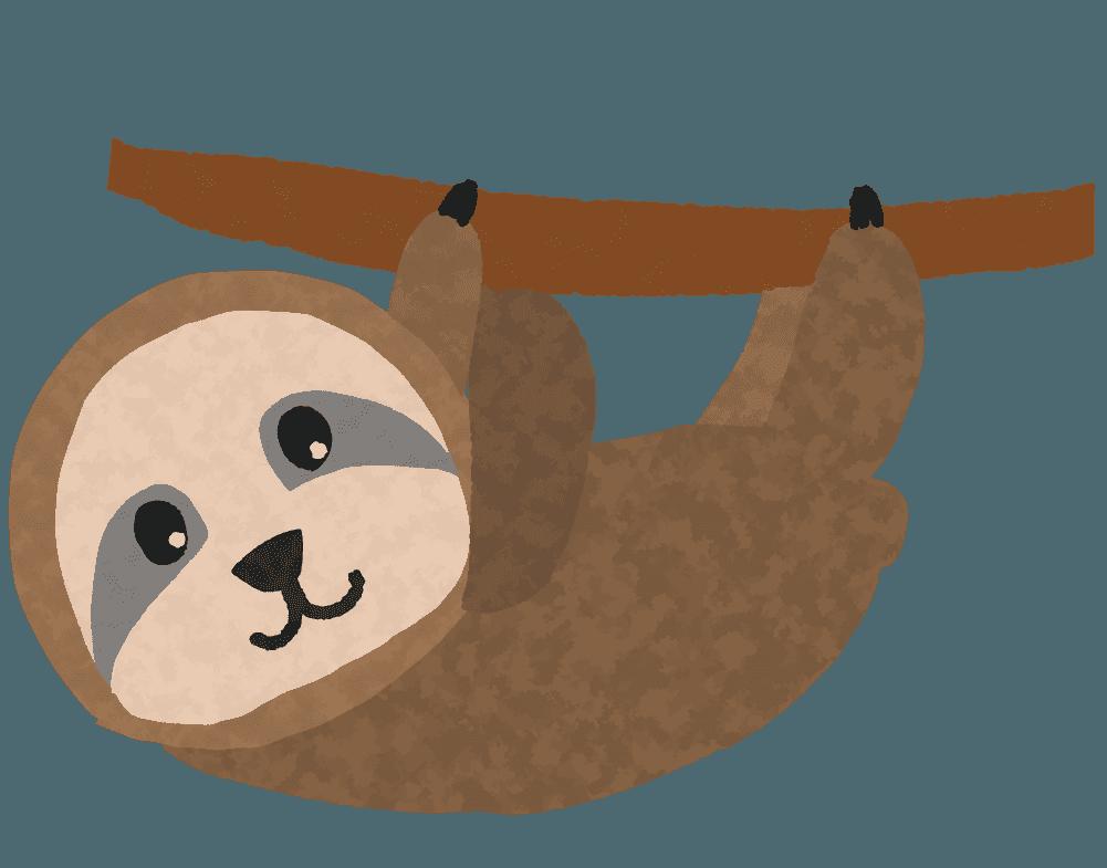 可愛いナマケモノのイラスト