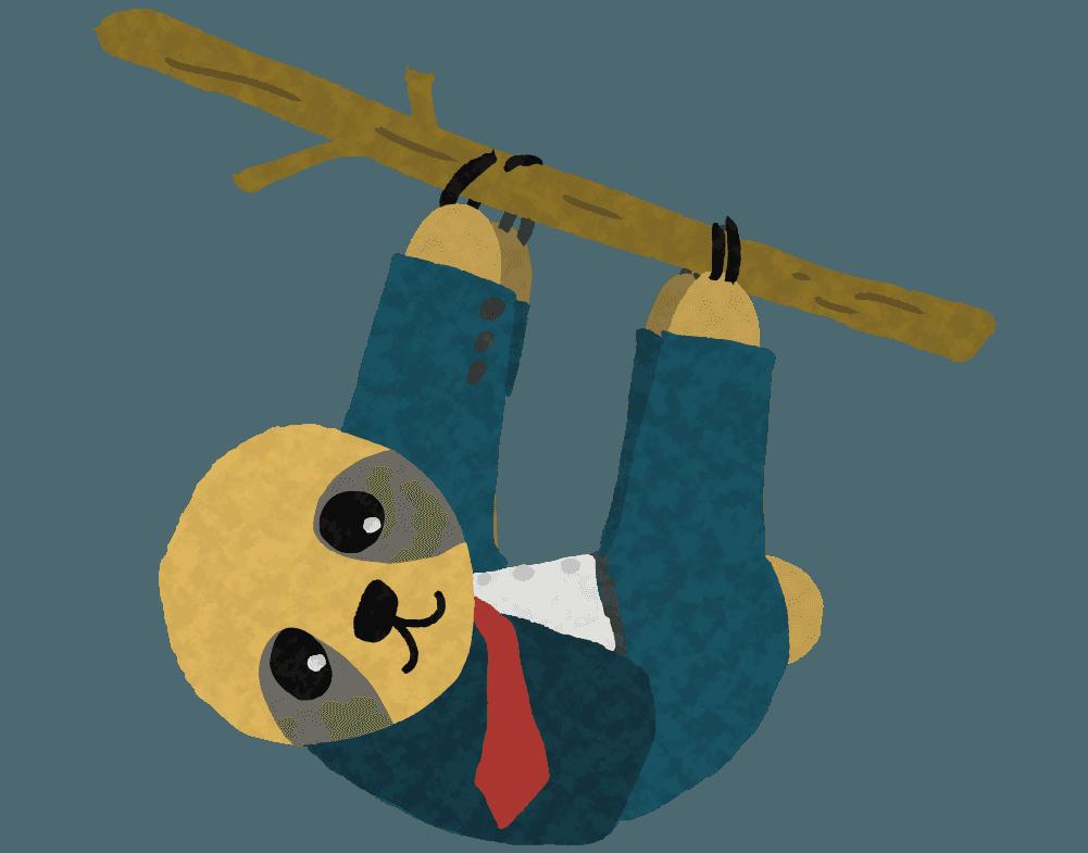 働き者になったナマケモノのイラスト