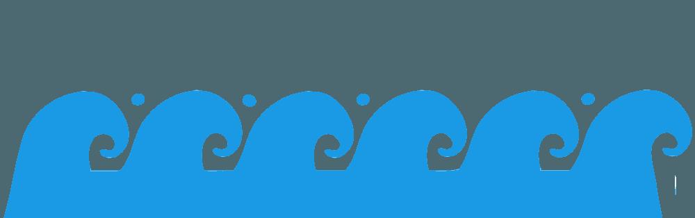 うねる波のバナーイラスト