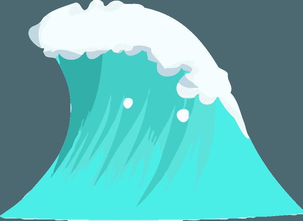 可愛い波イラスト