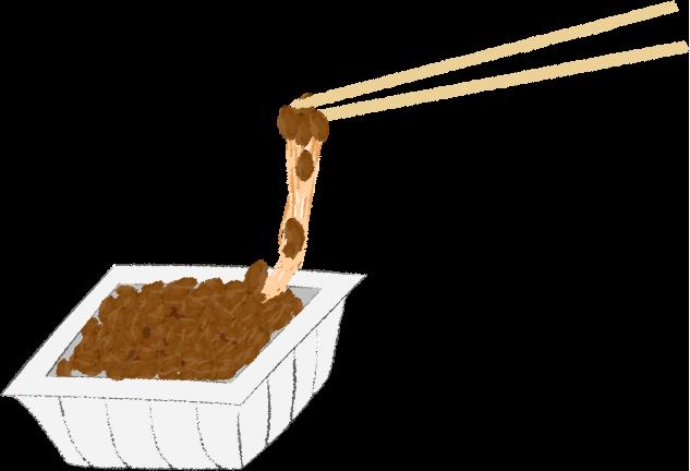 ネバネバ納豆のイラスト