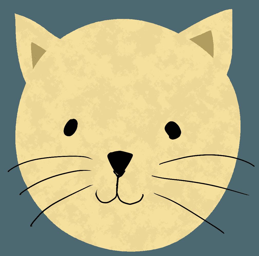 かわいい猫の顔のイラスト
