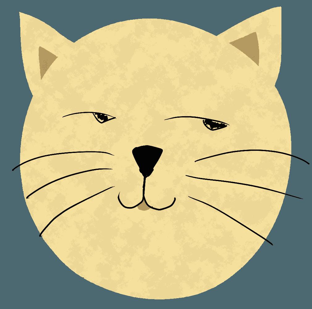 しらける猫イラスト