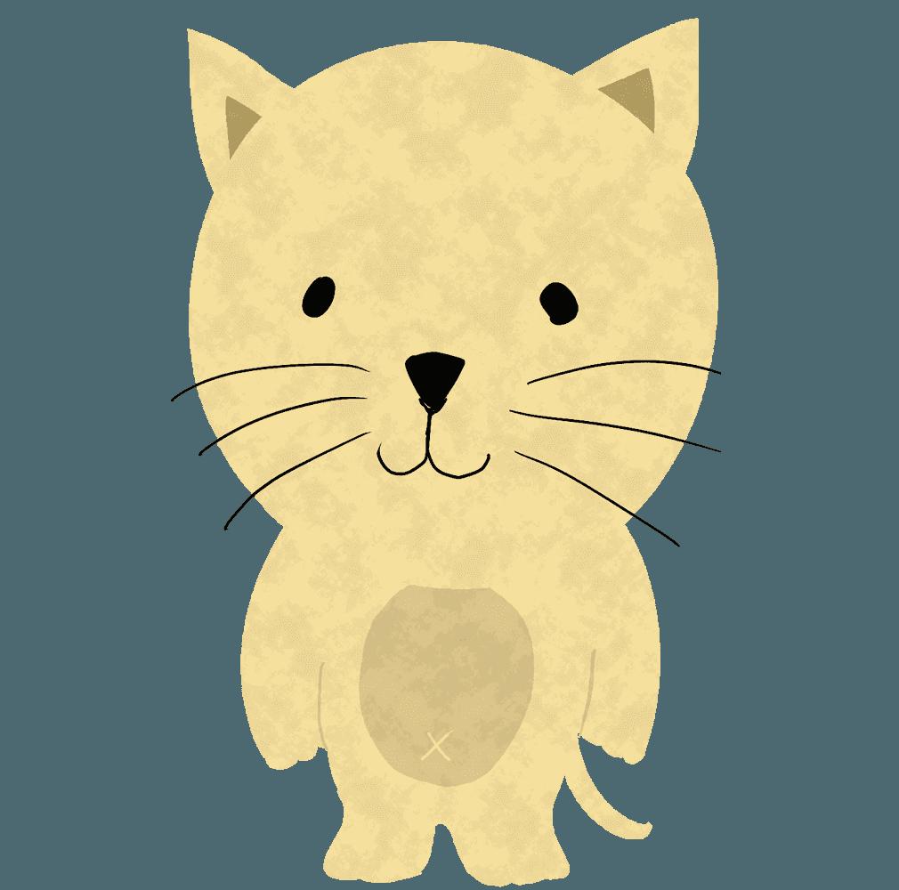 立っている猫イラスト