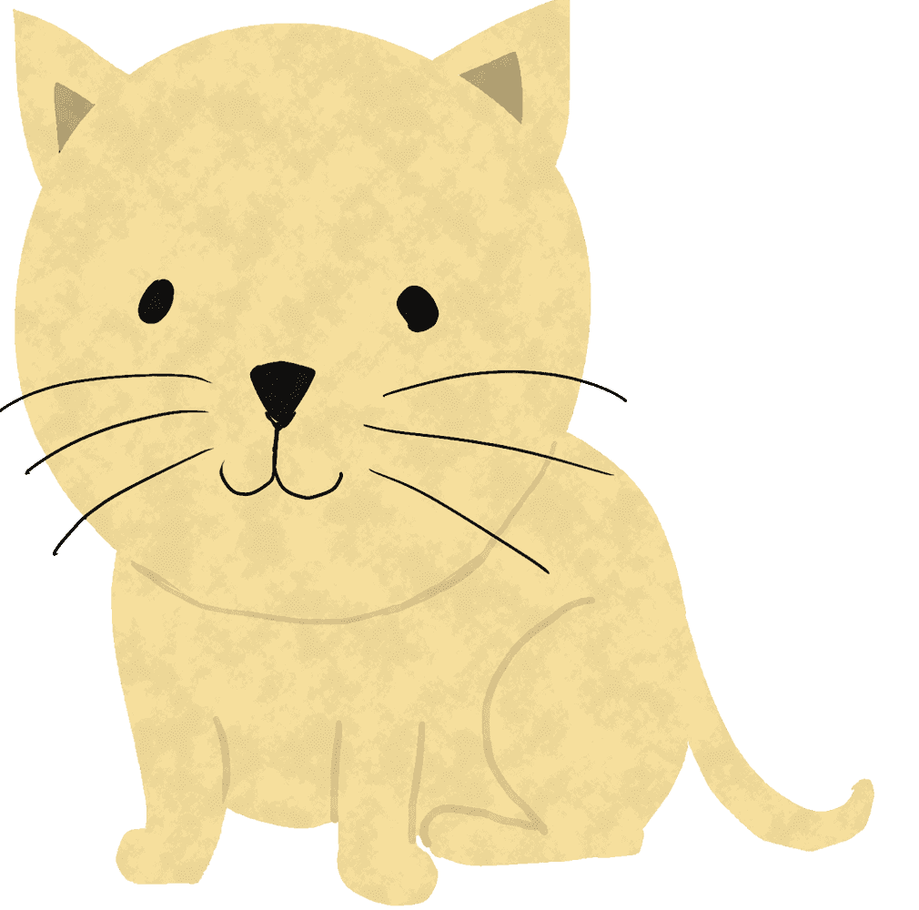笑顔のかわいい猫イラスト
