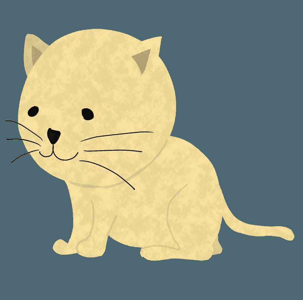 座る猫イラスト