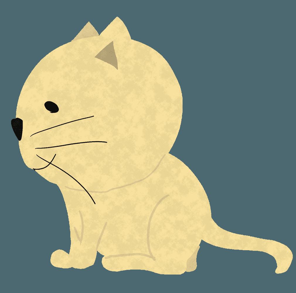 横向きの猫イラスト