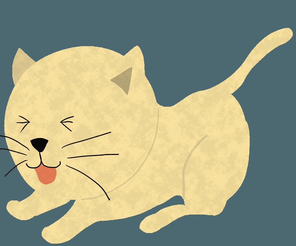 びっくりする猫イラスト