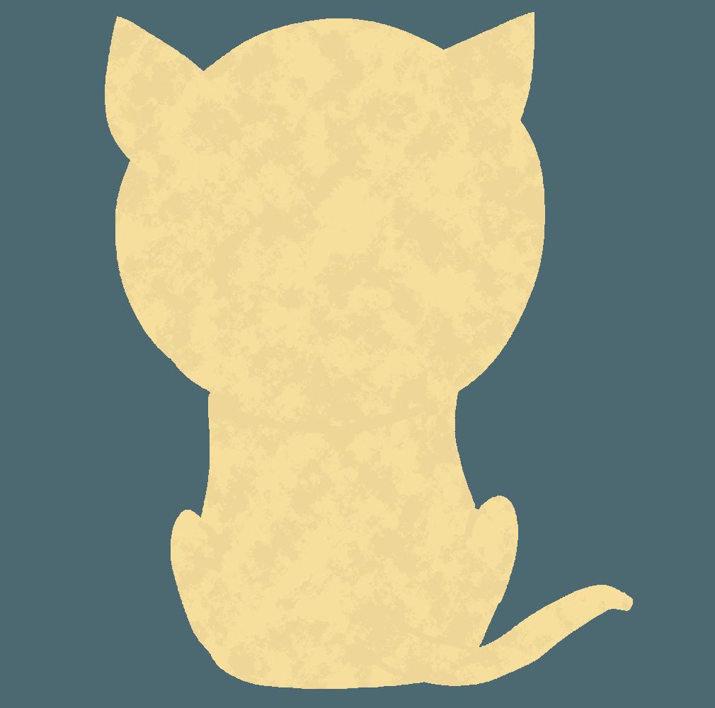後ろ向きの猫イラスト