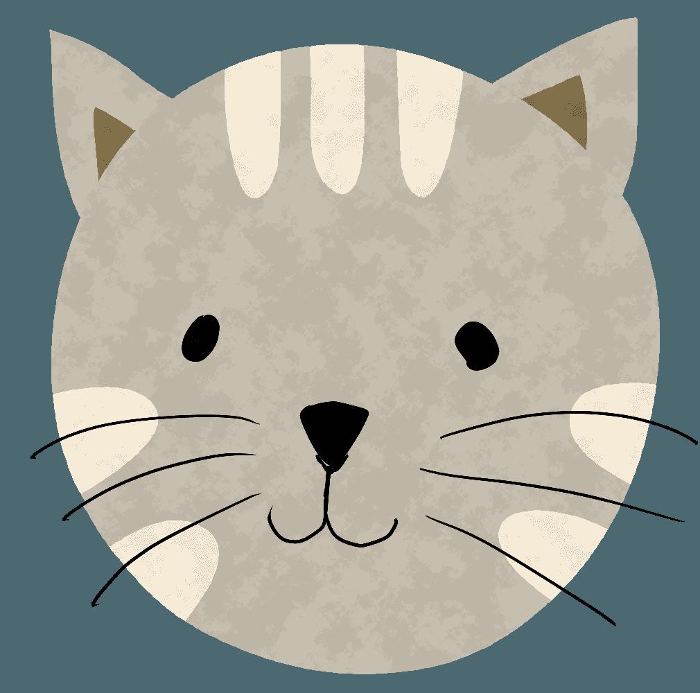 虎猫のかわいいイラスト