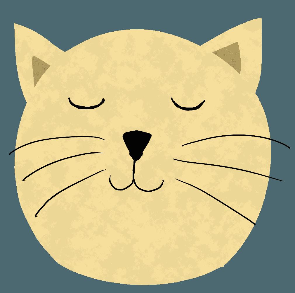 においを嗅ぐ猫イラスト