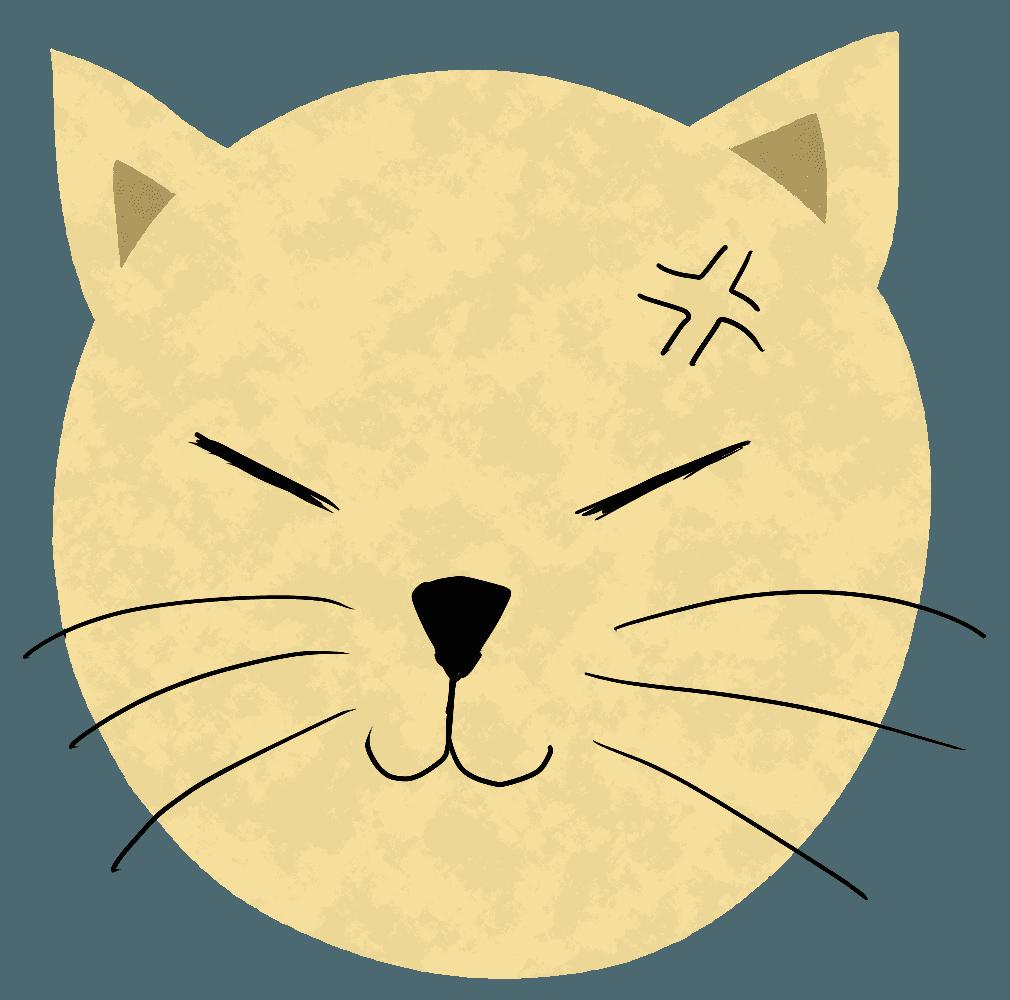 怒る猫イラスト