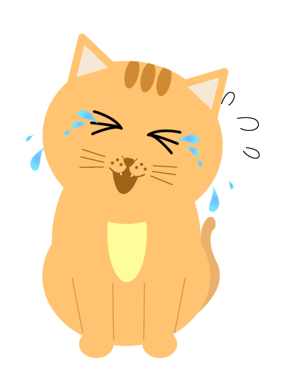 大泣きする猫のイラスト