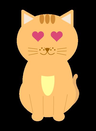 恋する猫のイラスト